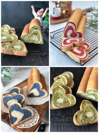 heart swirl loaf